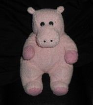 TY 2000 HIPPOBABY PINK BABY HIPPO RATTLE STUFFED ANIMAL PLUSH TOY SOFT L... - $43.53