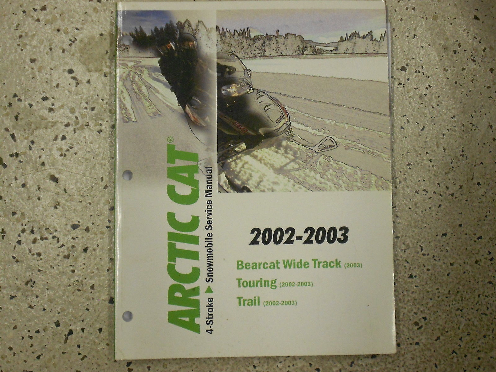 Primary image for 2002 2003 Arctic Cat Bearcat Wide Track Touring Trail Service Repair Manual x