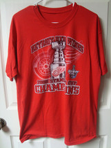 NHL Vintage 2008 Stanley Cup Champions Red Wings T-Shirts Mens Large Two Shirts - $10.69
