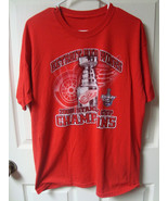 NHL Vintage 2008 Stanley Cup Champions Red Wings T-Shirts Mens Large Two... - $10.69
