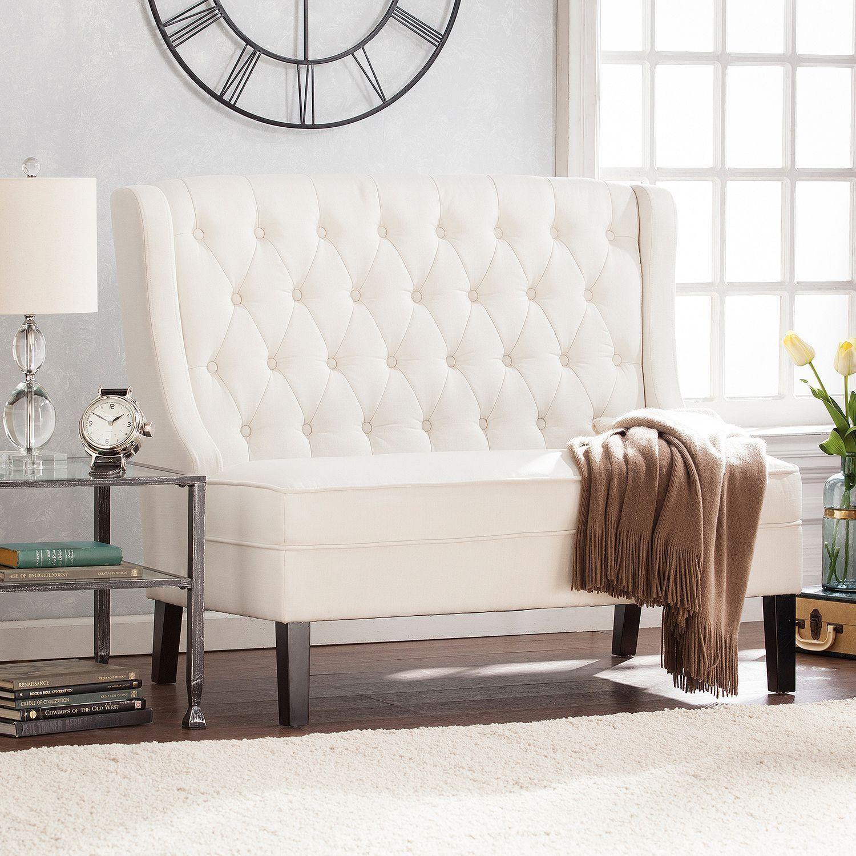 Back Settee Loveseat Upholstered Bench
