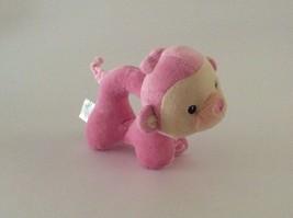 "Fisher Price My Little Snugamonkey Pink Yellow Monkey Rattle 6"" Plush Baby Toy - $12.19"