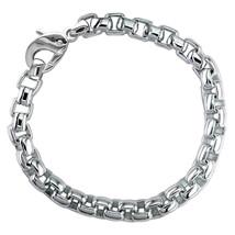Extra Large Rounded Box Links Bracelet in 14K White Gold - $6,300.00