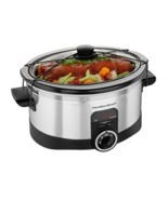 Programmable 6-Quart Digital Counter Top Slow Cooker Crock Pot  - £36.22 GBP