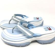 Vintage Tommy Hilfiger 85 Aqua Thong Slides White Sandals Womens Size 9.5 M - $29.99
