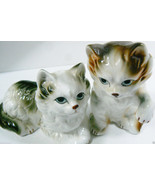 Set of 2 Vintage Fine Bone China Persian Cat Figurine made in Taiwan - $25.34