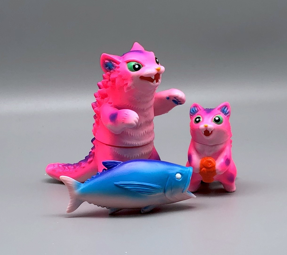 Max Toy Pink Pico Pico Negora, Micro Negora and Fish Set - Rare