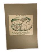 Ex Libris Book Plate Exlibris Black Fox Lodge Mayfair Ranch Brattleboro ... - $49.49