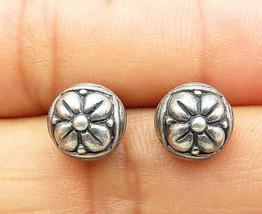 JANICE GIRARDI 925 Silver - Vintage Petite Flower Patterned Stud Earrings- E5708 - $233.75