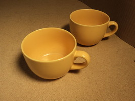 Signature Housewares Mug Peach Set of 2 Ceramic Stoneware - $16.92