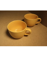 Signature Housewares Mug Peach Set of 2 Ceramic Stoneware - $16.92