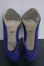 Women's Purple/Violet Blue Suede Sergio Rossi Stilleto Pumps (39) Heels Italy image 6