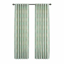 Waverly Home Classics One Panel 50x 84 Teal Curtain Moonlit Medallion Ce... - $19.79