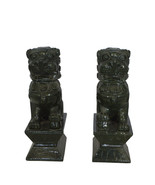 """Pair of Foo Dogs Made of Jade -  Size: 7""""L x 4""""W x 14""""H. - $300.00"""