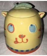 "DEPT. 56 CAT & FISH COOKIE TREAT JAR RARE COLLECTIBLE Ceramic 7"" T - $29.69"