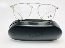 ▪️New Authentic Ray-Ban RB 6377F 2909 Beige & Silver Eyeglasses  52mm with Case - $71.28