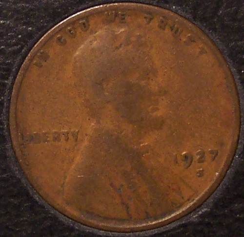 1927-S Lincoln Wheat Back Penny F12 #869