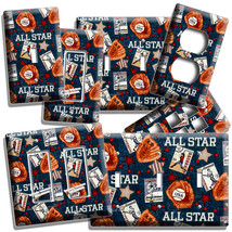 Baseball Vintage All Star Light Switch Power Outlet Wall Plate Cover Room Decor - $9.99+