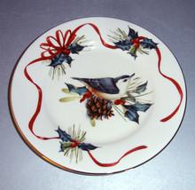 "Lenox Winter Greetings Nuthatch 6"" Single Party Tidbit Plate New - $28.90"