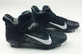 New Nike Alpha Menace Pro 2 Mid Football Training Cleats Men's 12 Black ... - $89.09