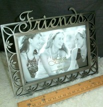 Friends Picture Frame 6 x 4 Photo Brushed Metal Best Friends Forever Gif... - £13.09 GBP