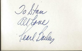 Pearl Bailey Signed 3x5 Index  B - $49.49