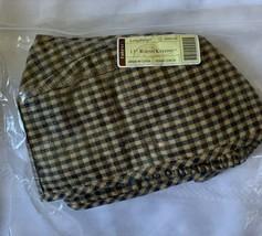 "Longaberger Fabric Liner Khaki Check For 13"" Round Keeping Basket 23441164 - $18.69"