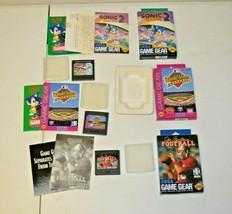 Sega Game Gear Games Lot Of 3 CIB Sonic 2 World Series Joe Montana Football - $24.74