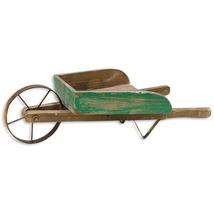 Rustic WOODEN WHEELBARROW Country Farmhouse Primitive Garden Planter Yar... - $59.99