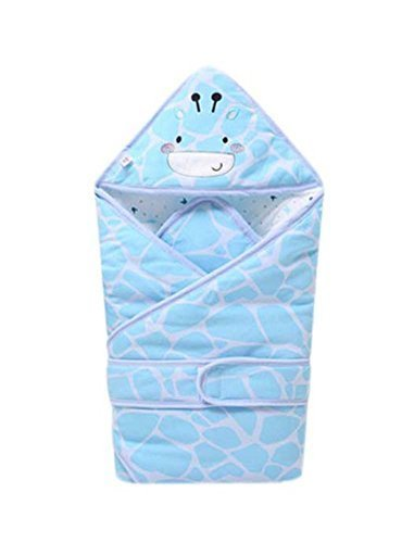 PANDA SUPERSTORE Giraffe Pattern Soft and Comfortable Thick Quilted Blue Baby Sw