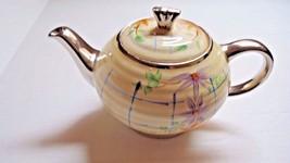 Sadler Tea Pot Violet Flowers Gold Trim Made In England - $14.95