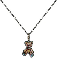 Teddy Bear Necklace Small Animal Charm Pendant Pet Memorial Jewelry 2 Ch... - $48.00