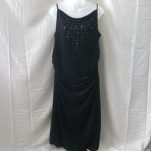 Sleeveless black Global Mind dress with rhinestones - $20.00