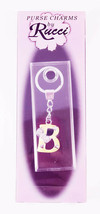 """Personalized Initial Key Chain B Made of Metal and Faux Leather 1""""x3.5""""  - $9.85"""