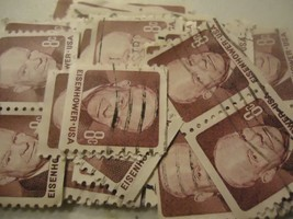 US postage stamp lot 1402 Eisenhower Regular Issue Coil 1970 CV $20.00 -... - $1.99