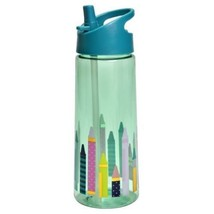 NEW Cat & Jack Kids 21.5 Oz Tritan Plastic Water Bottle Crayons Print