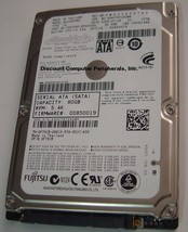 MJA2080BH Fujitsu 80GB SATA 2.5 in Drive Tested Good Free USA Shipping