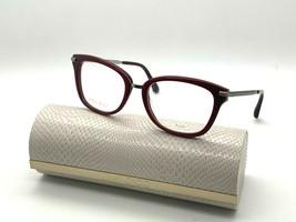 Jimmy Choo Eyeglasses JC218 Lhf Burgundy 52-18-140MM Italy Case& Cloth - $77.57