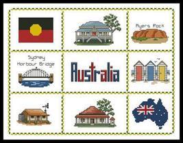 Australian Sampler cross stitch chart Artecy Cross Stitch Chart - $7.20