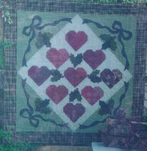"Quilt Pattern ""Hearts Come Home for Christmas"" by Out on a Limb 66"" x 66"" - $5.00"