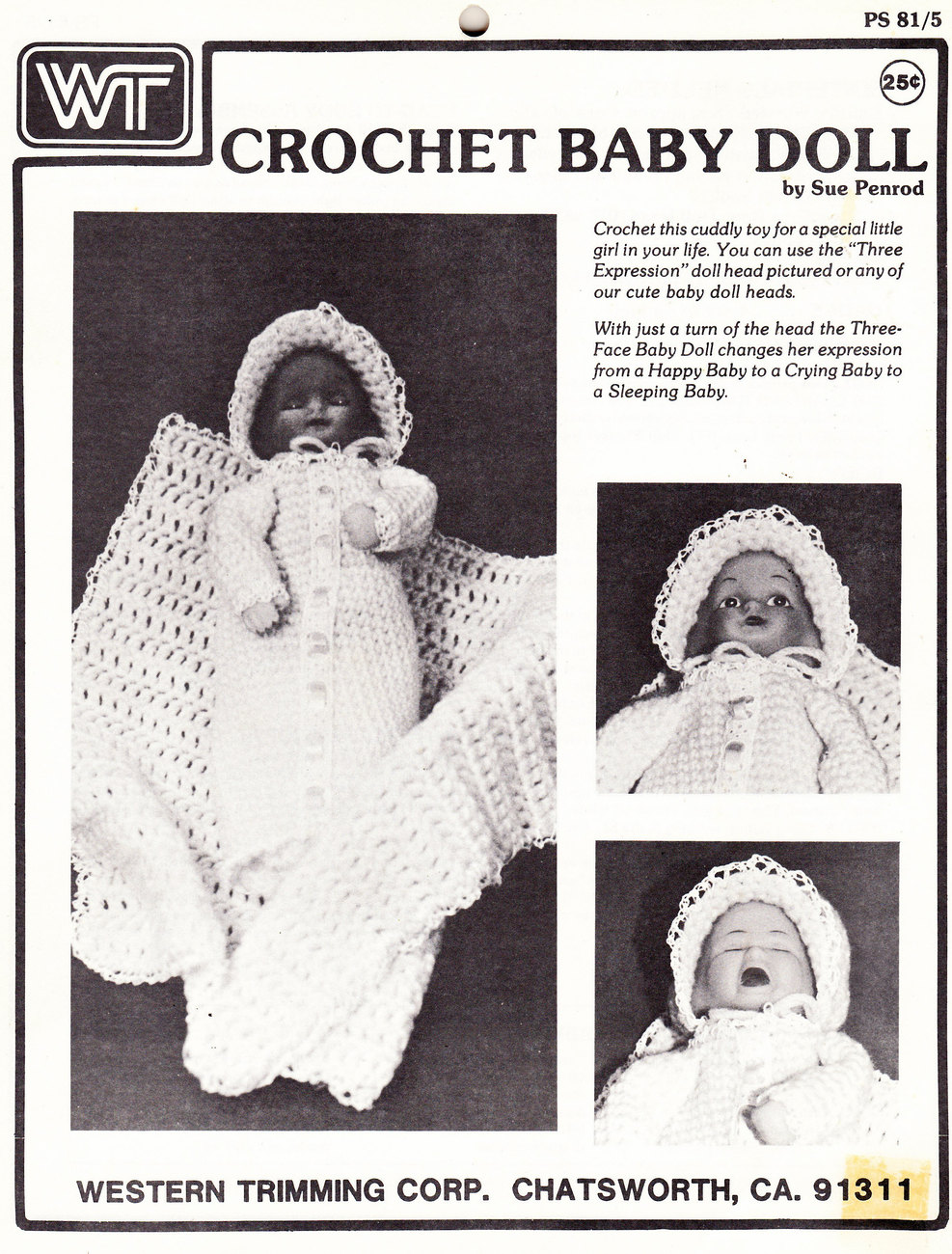 Primary image for CROCHET BABY DOLL BONNET BLANKET & GOWN