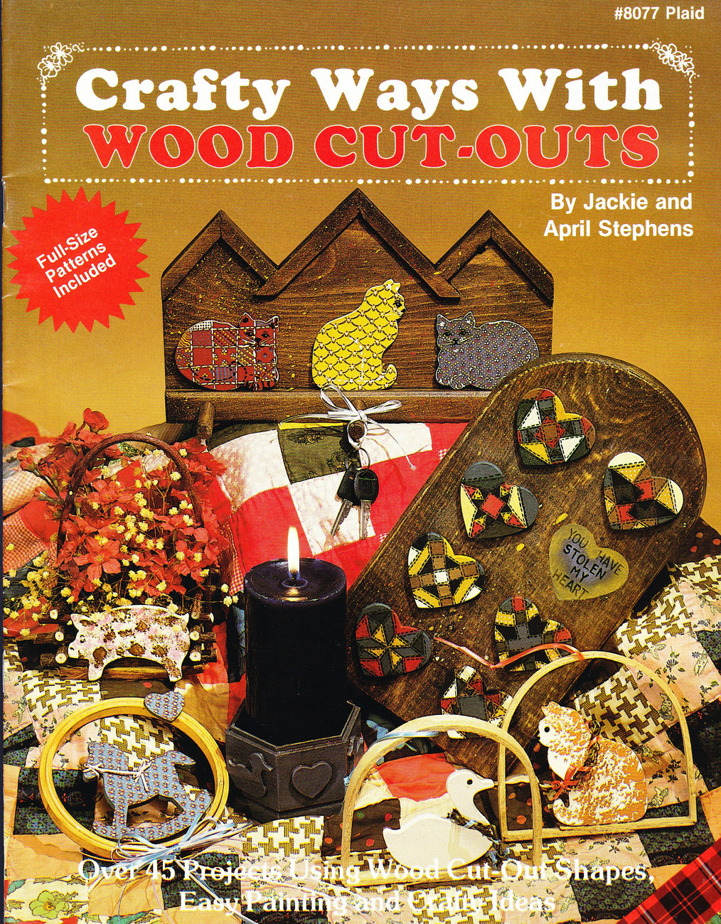 CRAFTY WAYS WITH WOOD CUT-OUTS PLAID #8077 FREE WITH QUALIFYING ORDER