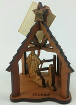 Christmas in Sedona Laser Cut Wood Nativity Scene Ornament with Tag in B... - $24.16