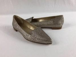Stuart Weitzman Sparkled Gold RIALTO Pointed Toe Flats Size 6 - $39.99