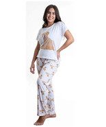 Dog Golden yellow Labrador pajama set with pants for women Lab - $35.00