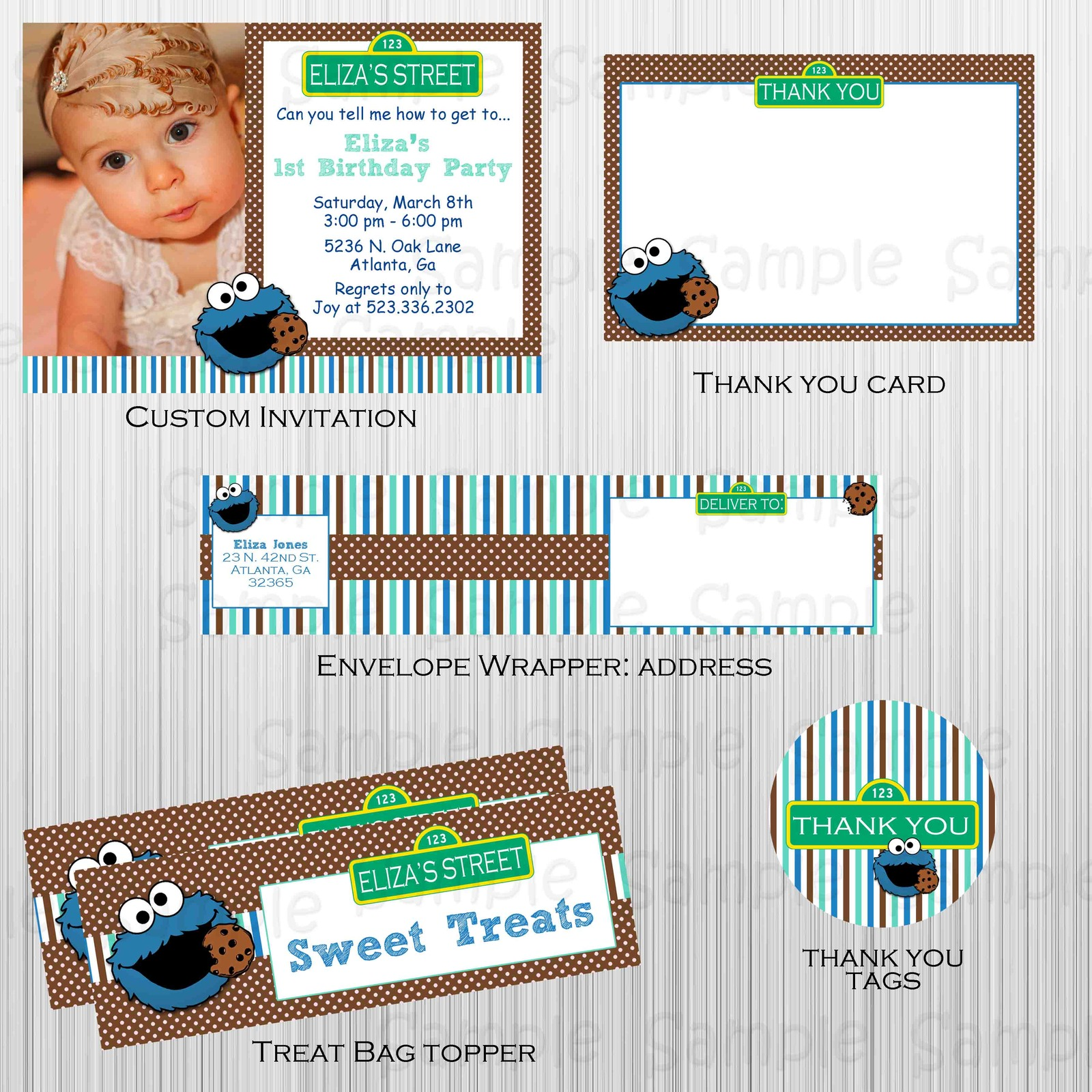 Printable cookie monster Party and 41 similar items