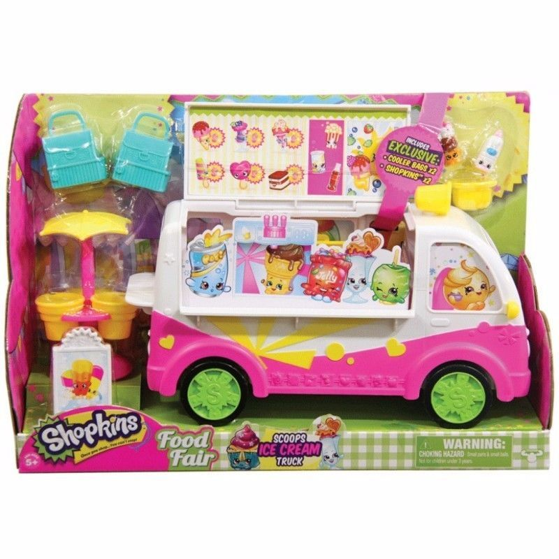 Shopkins Food Fair Scoops Ice Cream Truck - Season 3 [New] Toy