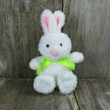 Hallmark Easter Bunny Rabbit Plush with Green Bow Stuffed Animal 11 Inch - $17.09