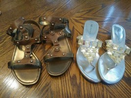 Two pairs Open Toe Sandals: Anne Klein Open Back & A.N.A. Strappy Size 8 - $18.00