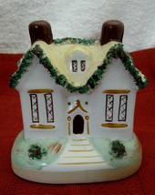 Vintage Cottage Pastille Spaghetti Trimmed Roof Soft Yellow NICE Unmarke... - $74.25